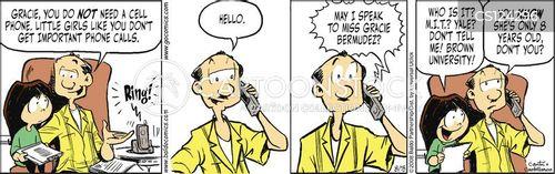 business call cartoon