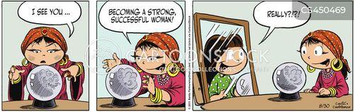 strong woman cartoon