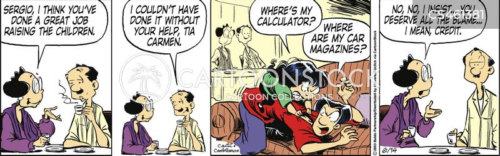 take credit cartoon
