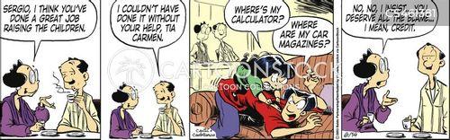 disobedient child cartoon