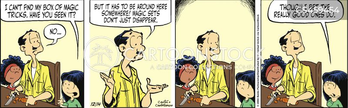 disappears cartoon