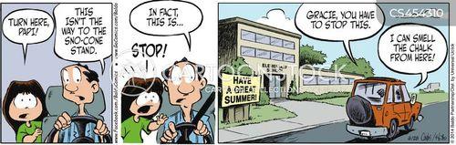 missing school cartoon