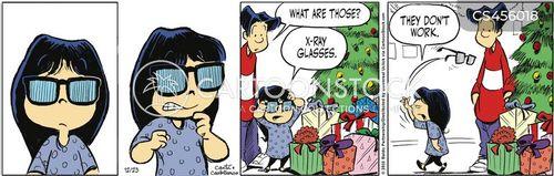 x-ray glasses cartoon