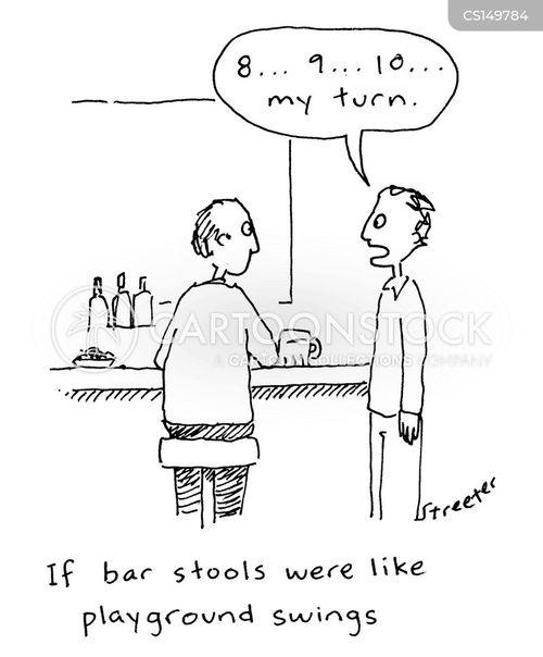 barstools cartoon