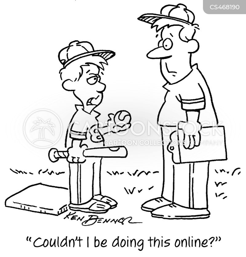 baseball coaches cartoon