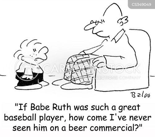 babe ruth cartoon