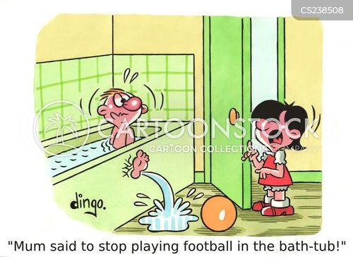 football skills cartoon