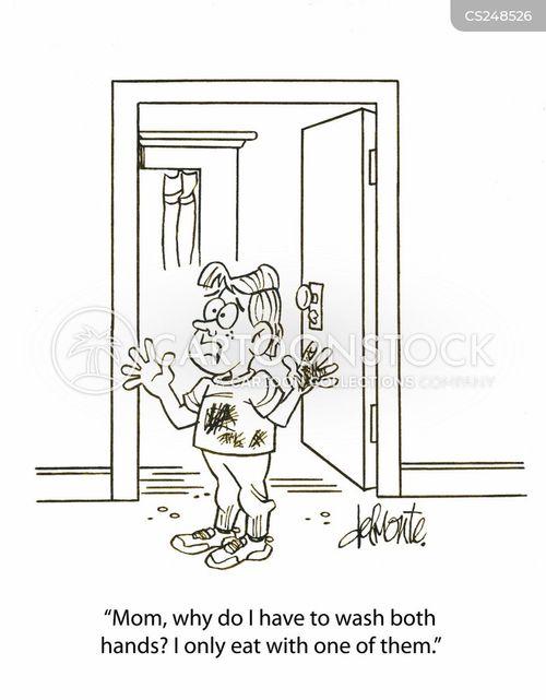 free funny hand washing cartoons. Black Bedroom Furniture Sets. Home Design Ideas