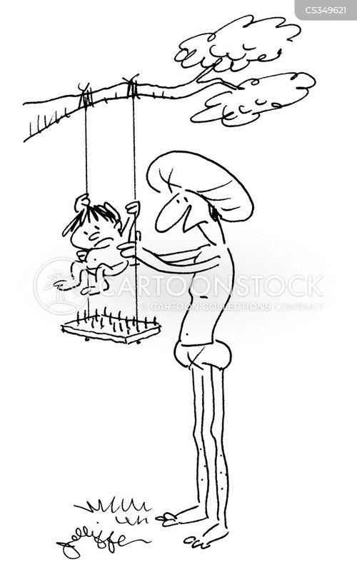 tree swing cartoon