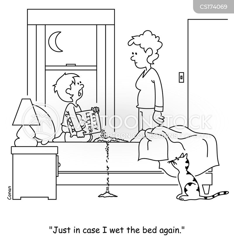bed wetters cartoon