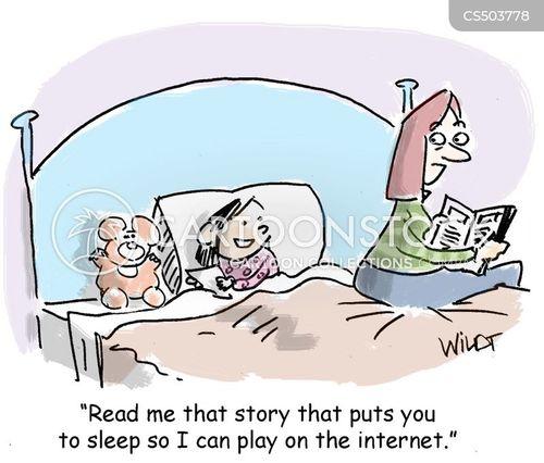 bedtime routines cartoon