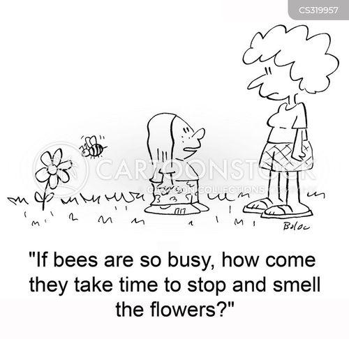 smell the flowers cartoon