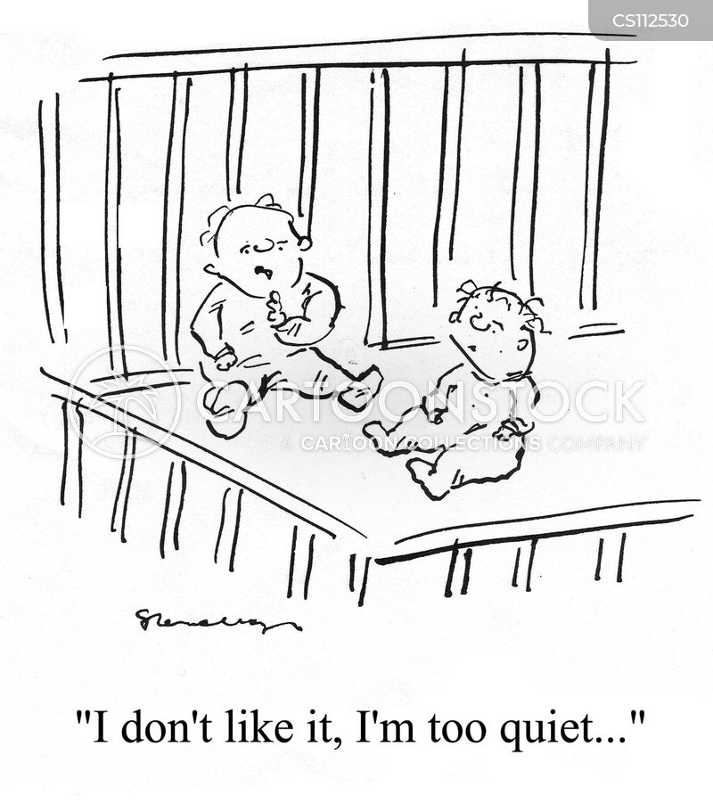 too quiet cartoon
