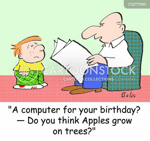 birthday list cartoon