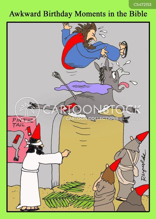 pin-the-tail-on-the-donkey cartoon