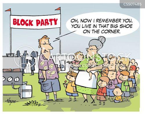 street party cartoon