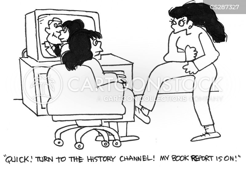 book report cartoon