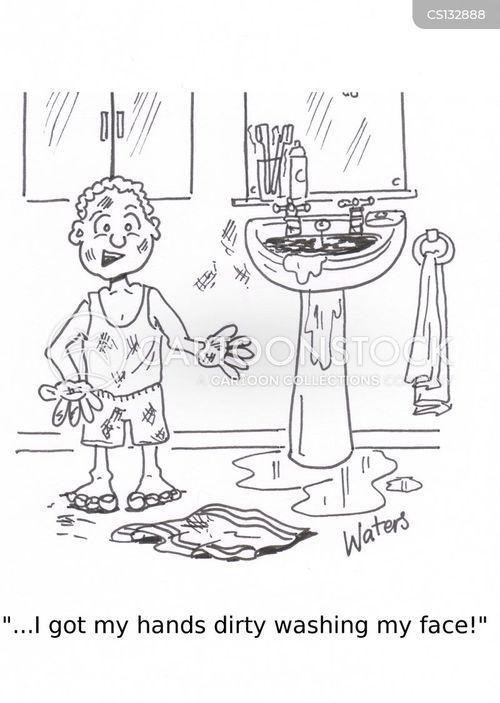 making a mess cartoon