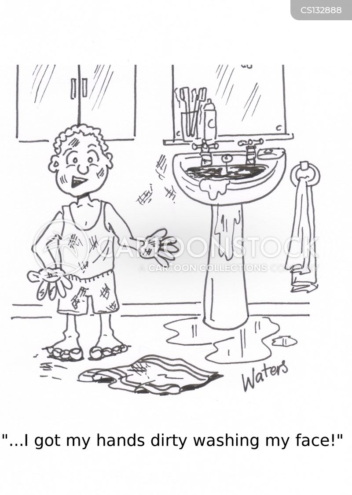 keeping clean cartoon