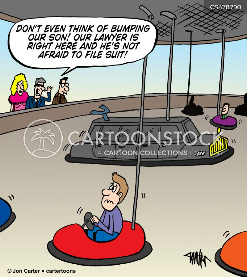 bumper-car cartoon