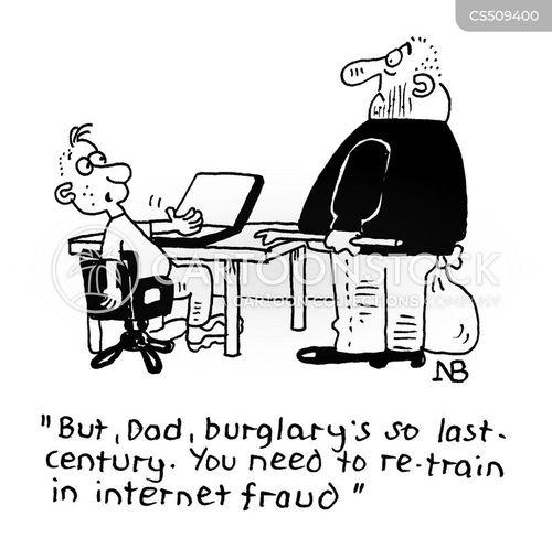 online fraud cartoon