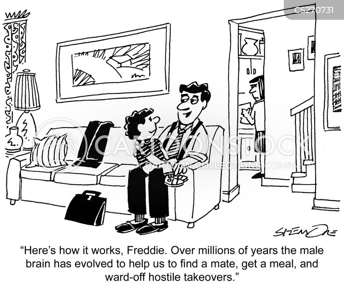 father-son talks cartoon