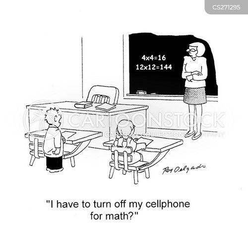 calculating cartoon