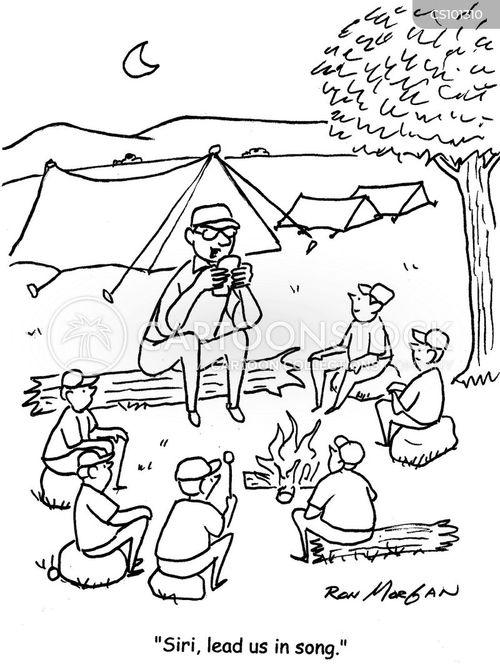 Campfire Songs Cartoon 1 Of
