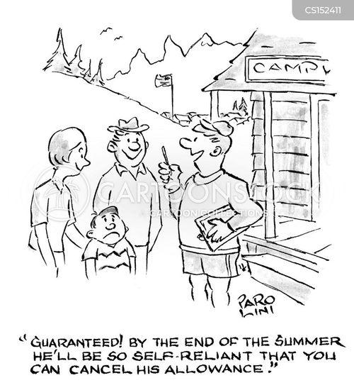 self-reliance cartoon