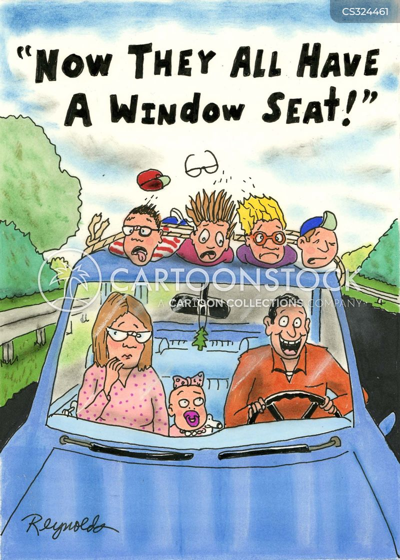 window seats cartoon