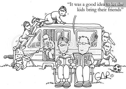 caravanning cartoon