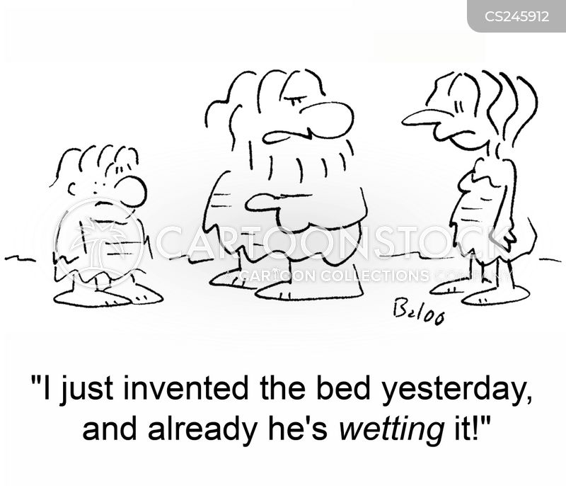 wet the bed cartoon