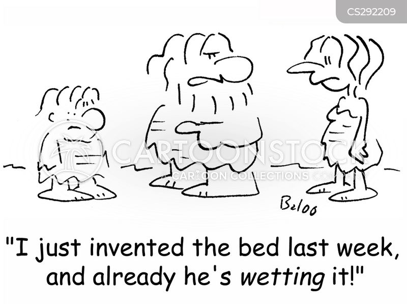 wetting the bed cartoon