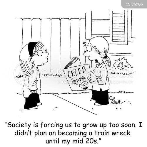 train wreck cartoon