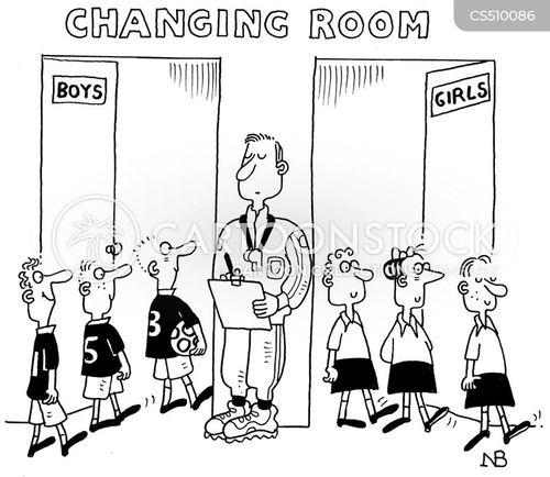 pe teacher cartoon