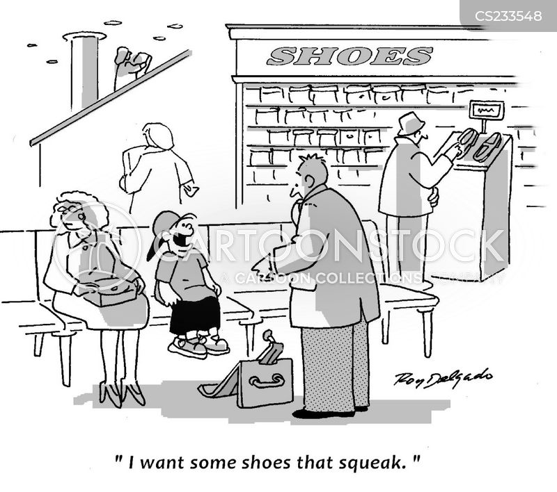 new shoe cartoon