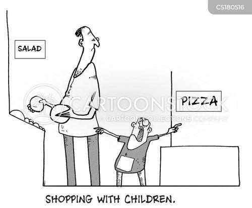 supermarket shop cartoon