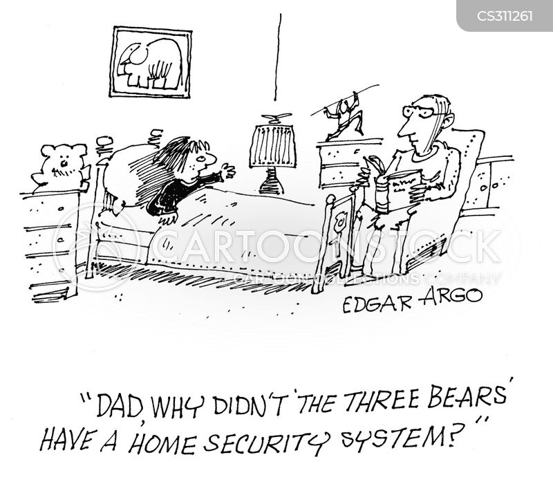 home security system cartoon