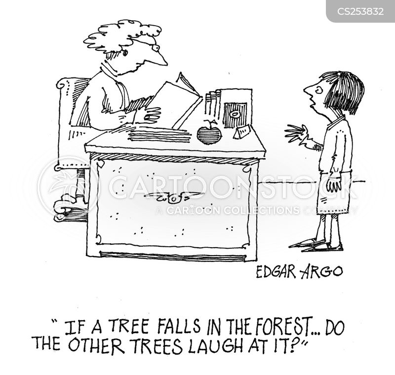 falling tree cartoon