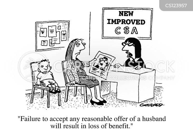 single parent cartoon