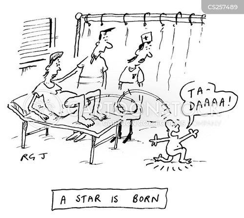having a baby cartoon