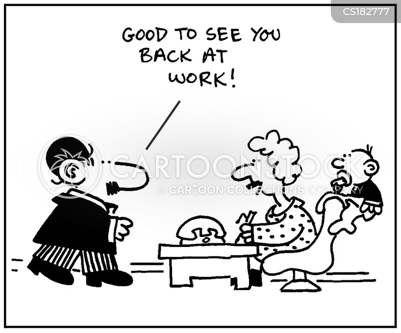 career mums cartoon
