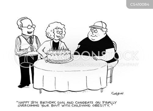 18th birthday cartoon