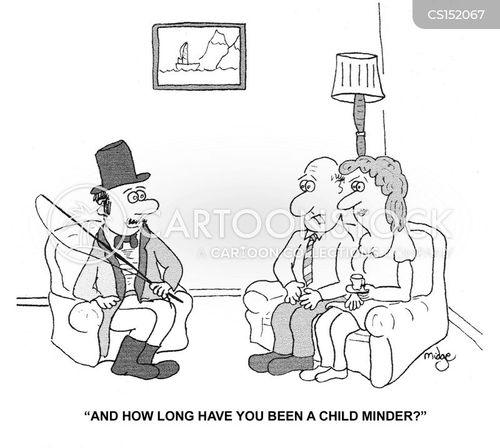 child-minder cartoon