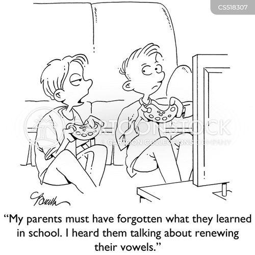 read and write cartoon