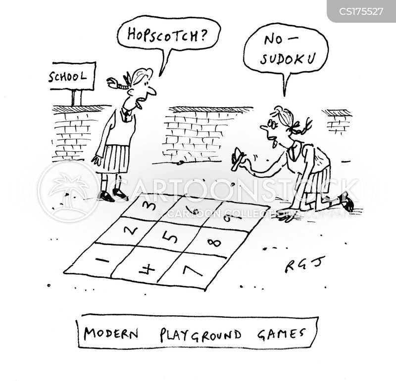 playing games cartoon