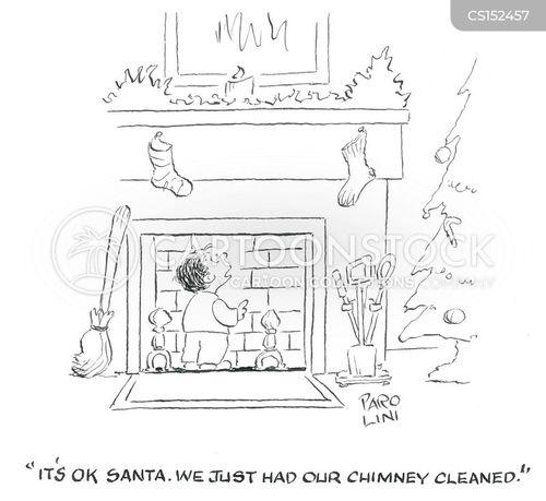 clean chimney cartoon