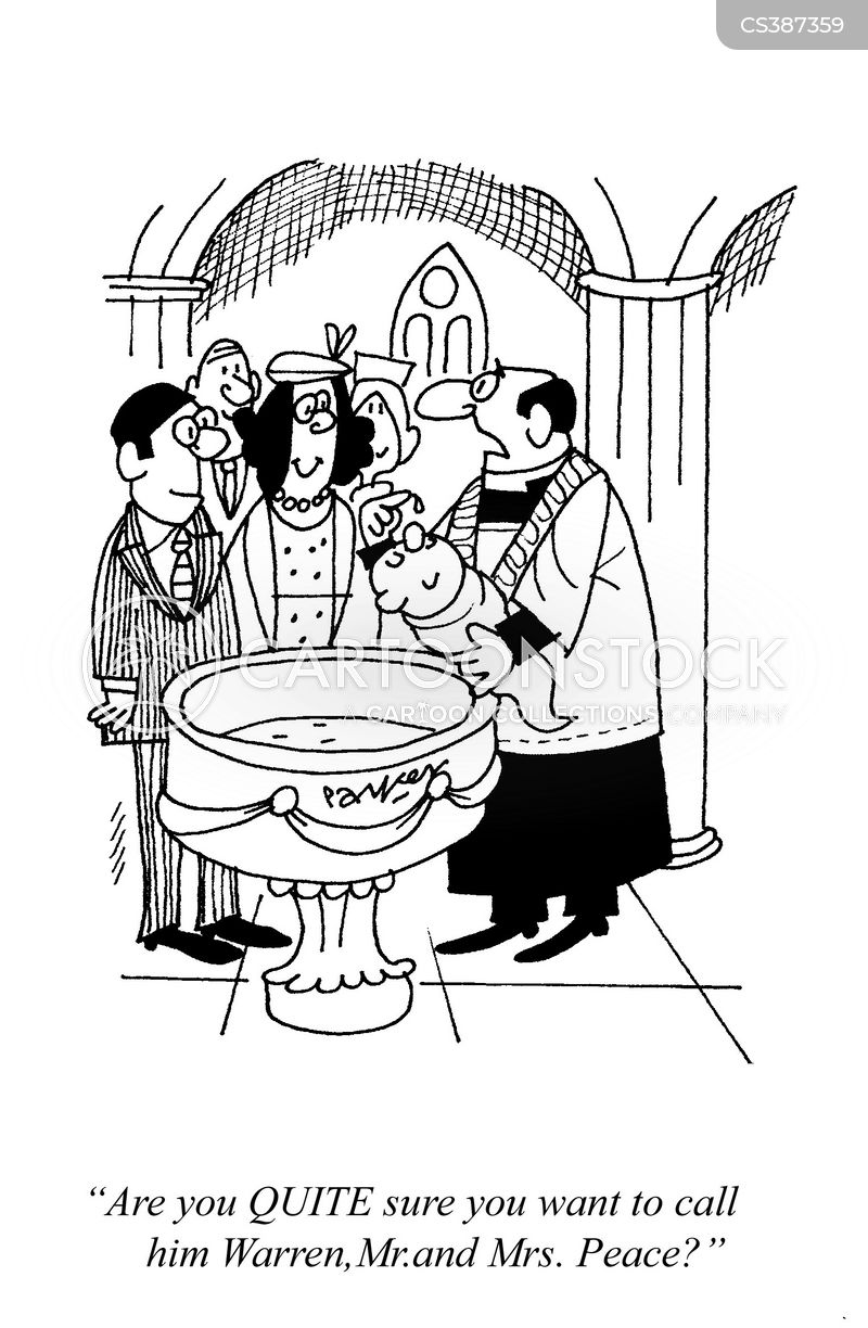 baptises cartoon