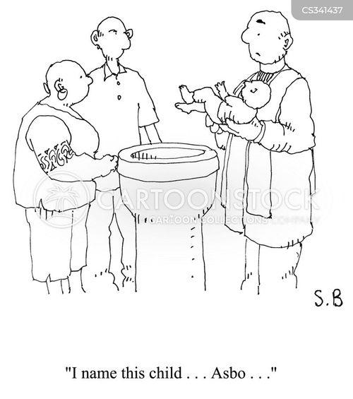 christened cartoon