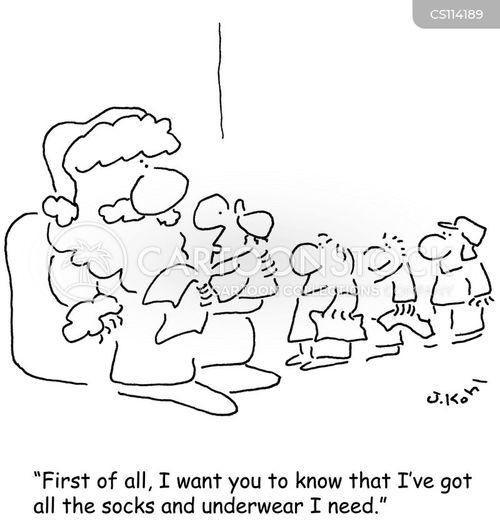 department store santa cartoon